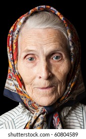 Aging process - very old senior women smiling face