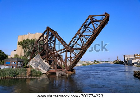Aging Railroad Draw Bridge Over Rouge Stock Photo Edit Now