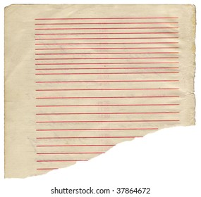 Aging striped paper