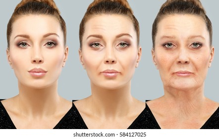 Aging.Woman of different ages