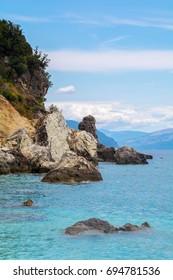 Agiofili beach on Lefkada island in Greece