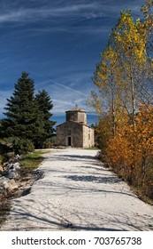 Agios Fanourios chapel in Doxa lake/Agios Fanourios