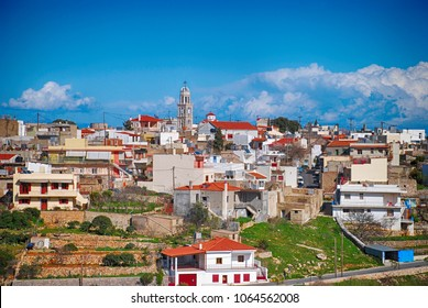 Agios Georgios sykousis village at Chios island Greece