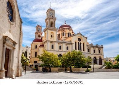 Agios Minas (Saint Minas) Cathedral, Heraklion, Crete island, Greece