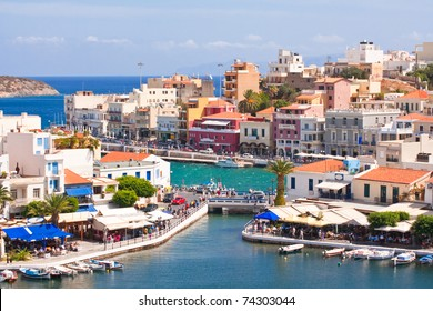 Agios nicolaos - Crete - greece harbor from the lake