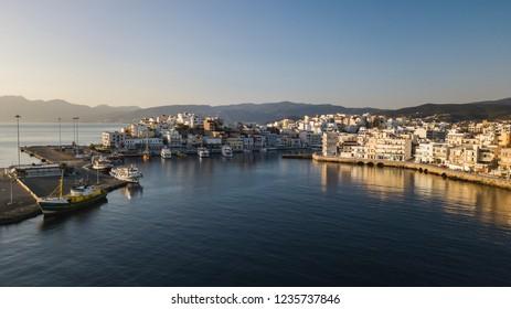 Agios Nicolaos Port Drone View