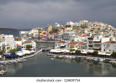 Agios Nikolaos is the city located in the easternmost part of the island of Crete. One of the main attractions is Voulesmeni Lake located almost in the center of the city.