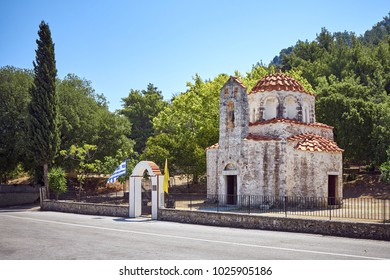 Agios Nikolaos Fountoukli ancient church in Eleousa town, Rhodes, Greece