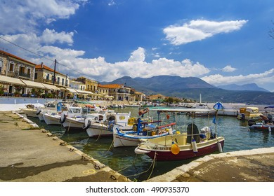 AGIOS NIKOLAOS - MESSENIA, AUGUST 2016: Agios Nikolaos is a wonderful fishing village in the Mani Peninsula in southern Greece, it is popular with holidaymakers.