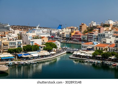 Agios Nikolaos, overlooking the lake. Greece. Crete