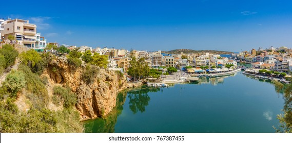 Agios Nikolaos with the Voulismeni Lake