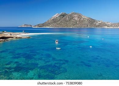 Agios Pavlos beach of Amorgos island in Cyclades, Greece