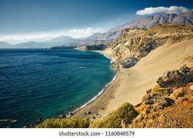 Agios Pavlos beach in Crete