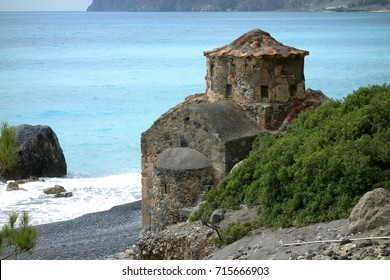 Agios Pavlos beach with Saint Paul church, Crete, Greece