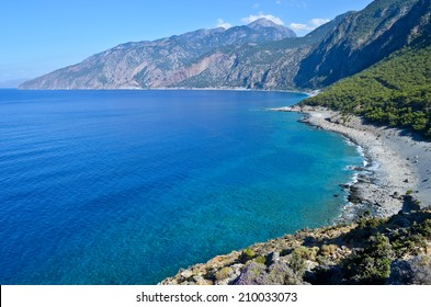 Agios Pavlos beach (Selouda) is one incredible beach at Opiso Egiali area, close to the exit of the wild Eligia Gorge. The beach totally secluded from civilization.