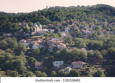 Agios Petros mountain village in Arcadia, Greece