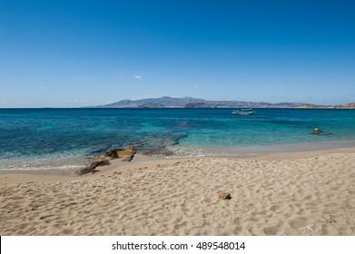 Agios Prokopios beach in Naxos island Greece