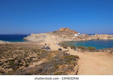 Agios Sostis, a beach in the eastern part of Serifos, Cyclades, Greece