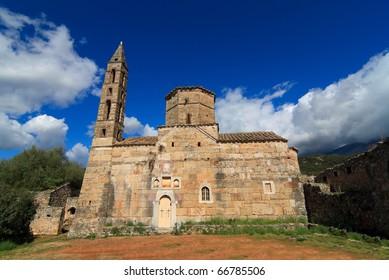 Agios Spyridon Medieval church in Mani, Greece