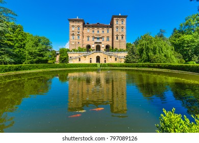 Aglie',Turin, Piedmont, Italy, 09 May 2017. Ducal Aglie' castle, located in Aglie' little village near of Turin, Piedmont region, north Italy.