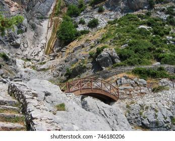Agnanta Waterfall at Tzoumerka mountain Epirus Greece