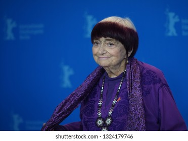 Agnes Varda attends the 'Varda By Agnes' photocall during the 69th Berlinale Festival Berlin at Grand Hyatt Hotel on February 13,   2019 in Berlin, Germany