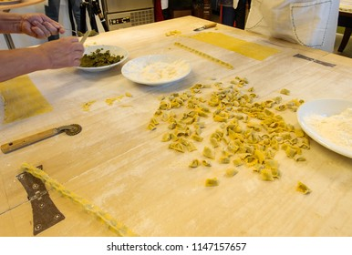 Agnolotti: home made pasta of the Langhe, Piedmont - Italy