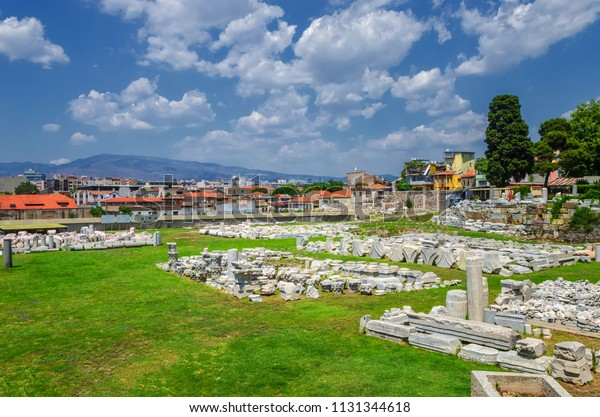 Agora of The ancient city of Smyrna in Izmir