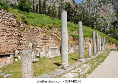 Agora on the sacred way at Delphi