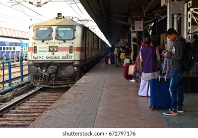 AGRA - February 11, 2017: Railway Station in Agra, India – Indian Railways is state own and is fourth largest railway network in the world.