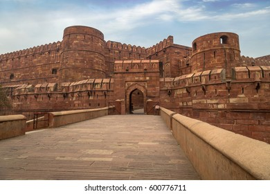 Agra Fort - A UNESCO World Heritage site in the city of Agra India. This historical fort is a mark of Mughal Indian architecture which housed the Mughal dynasty till the year 1638.