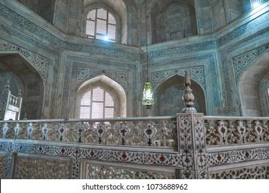 Agra, India - 04.21.2018: Inside of the Taj Mahal
