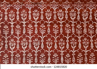 AGRA, INDIA - APRIL 10: Pattern on Taj Mahal on April 10, 2012 in Agra, India. Taj Mahal is widely recognized as the jewel of Muslim art and one of the universally masterpieces of the world