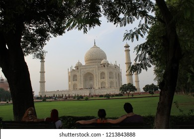 AGRA / INDIA - AUGUST 18 2011 : The Taj Mahal is considered to be the greatest architectural achievement in the whole range of Indo_Islamic architecture.