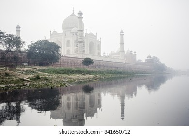 AGRA, INDIA - JANUARY 8, 2015: Taj Mahal Palace on January 8, 2015 in Agra, India