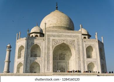 AGRA, INDIA - November 24, 2018: Taj Mahal, Agra, India.