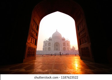 Agra, Uttar Pradesh, India - 21 October 2015: Early morning visit to Taj Mahal