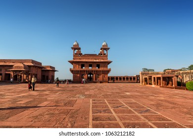 Agra, Uttar Pradesh, India - October 2, 2017 : View of UNESCO World Heritage site Fatehpur Sikri, India.