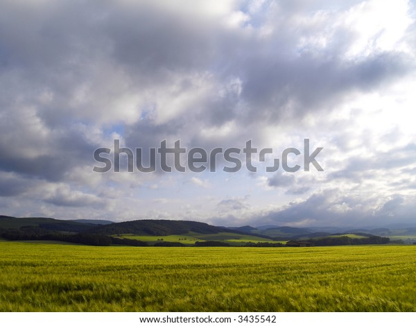 agrarian landscape in central germany