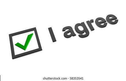 I agree checkbox with green check mark