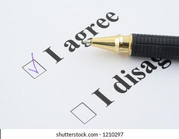 "I AGREE - focus is set on ""I agree"" check box"