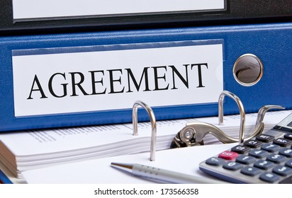 Agreement Binder in the Office