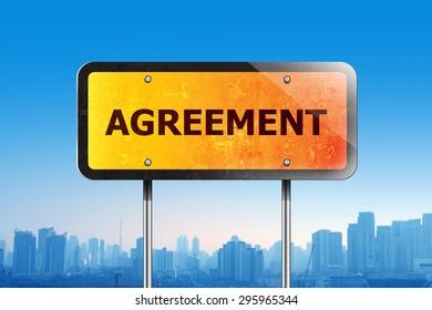 Agreement traffic sign