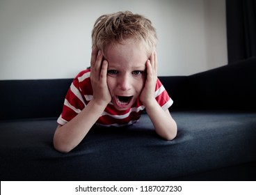 agressive angry conflict child exhausted tired overload