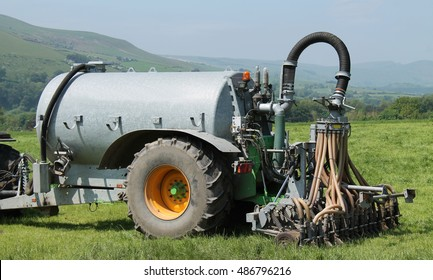 An Agricultural Farm Slurry Tanker with Shallow Injector.