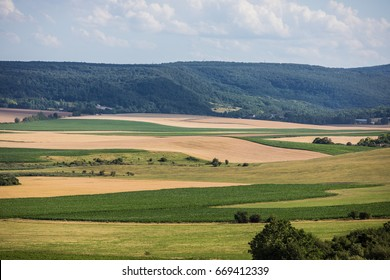 Agricultural field in Balaton region Hungary,