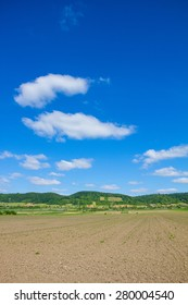 Agricultural Field In North Burgenland Near Donnerskirchen At Lake Neusiedl Bike Way