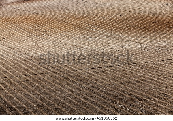 Agricultural field, ready for planting crops. Spring. close-up