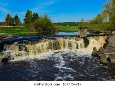 Agricultural landscape with river