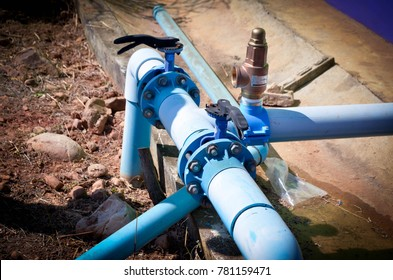 Agricultural pump piping with release and butterfly valves for controlling way of water for prorate to target area